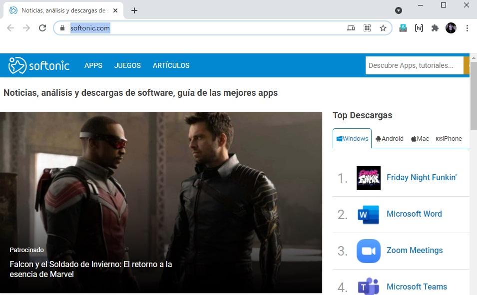 Cambio de la página de inicio de Chrome