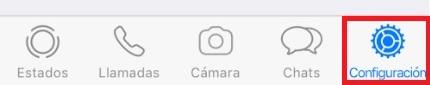 Ajustes de WhatsApp en iPhone