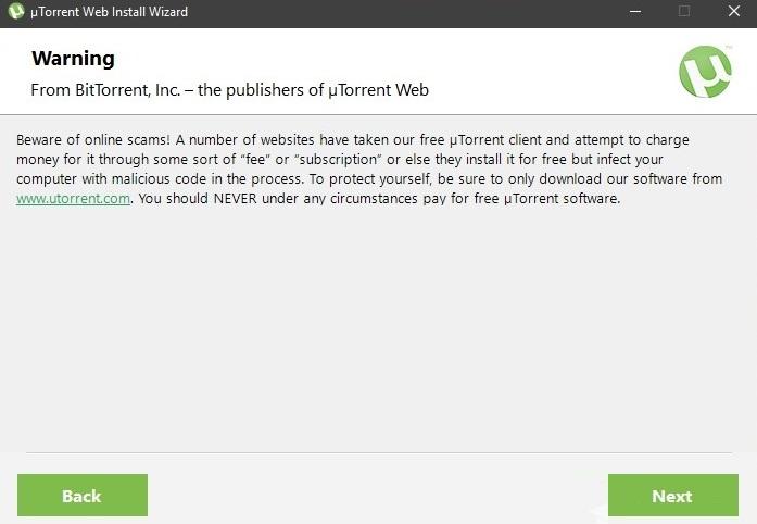 Instalar uTorrent Web