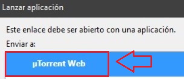 Abrir archivo desde uTorrent Web