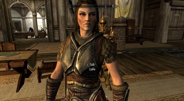 Skyrim Lydia follower