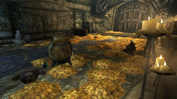 Skyrim gold room dragonborn deathbrand