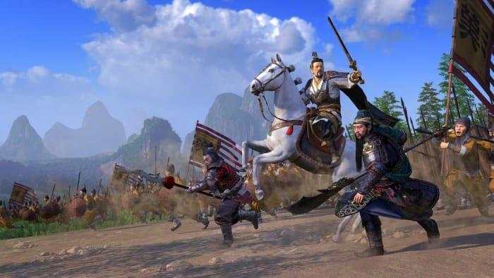 Total War: Three Kingdoms cavalry charge