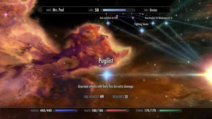 Elder Scrolls V: Skyrim Pugilist perk unarmed
