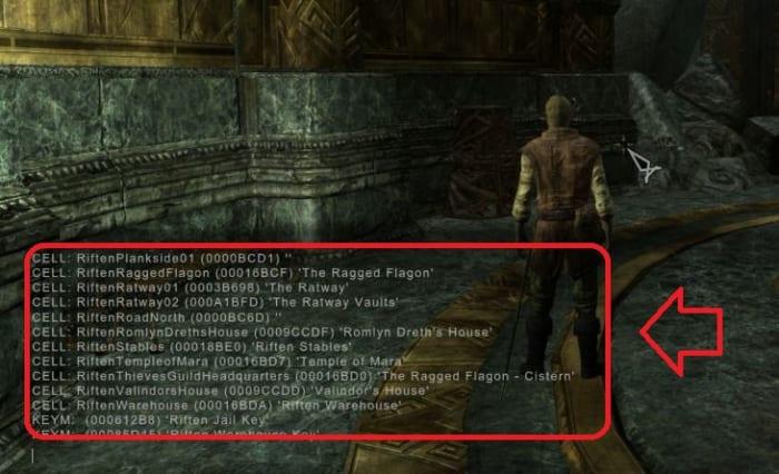 Skyrim help menu console command
