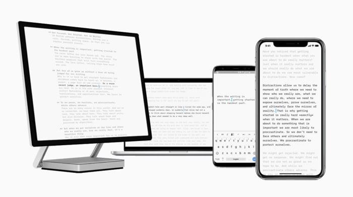iA writing app