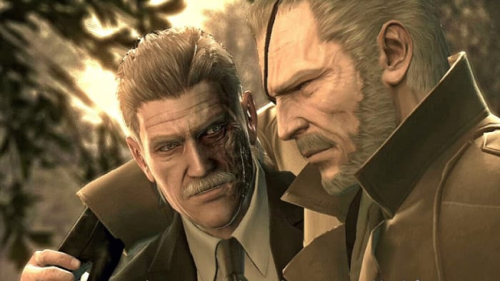 Solid Snake and Big Boss MGS 4