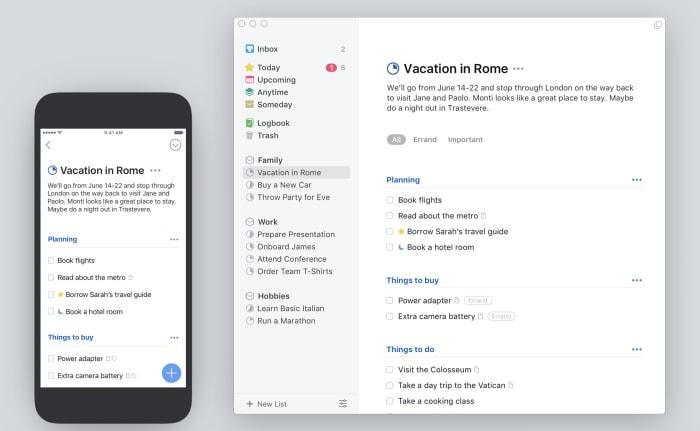 Things iOS and desktop