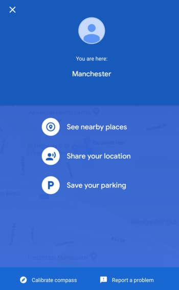 Save your parking space on Google Maps