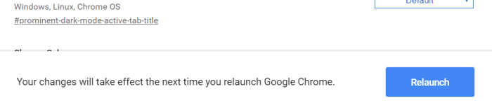 Relaunch Chrome now