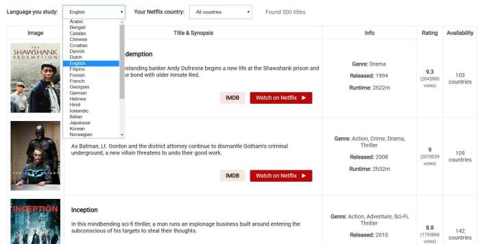 Learn languages with Netflix language catalog