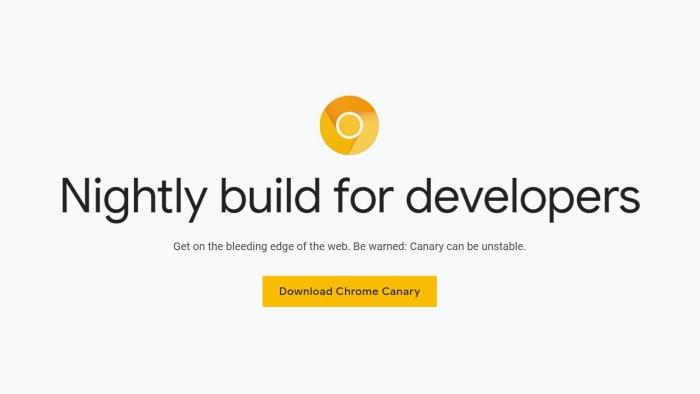 chrome experimental web browser canary