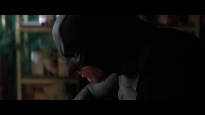 batman begins brooding