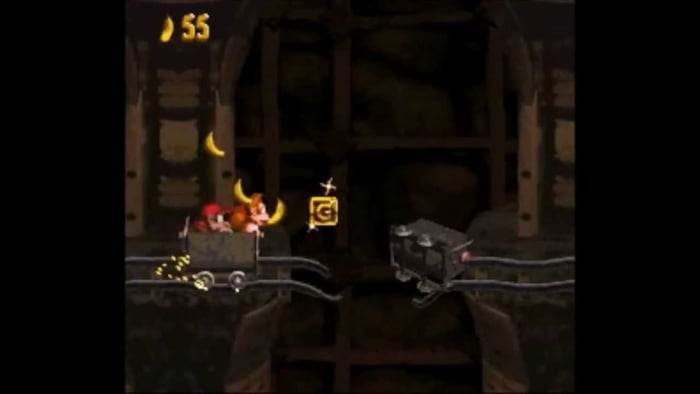 donkey kong country mine cart levels frustrating