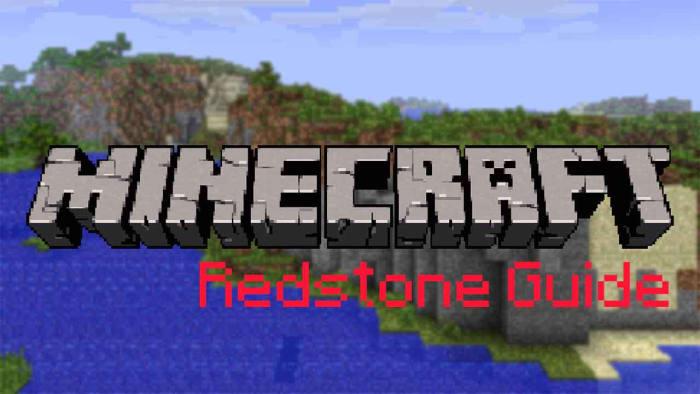 Minecraft Redstone guide