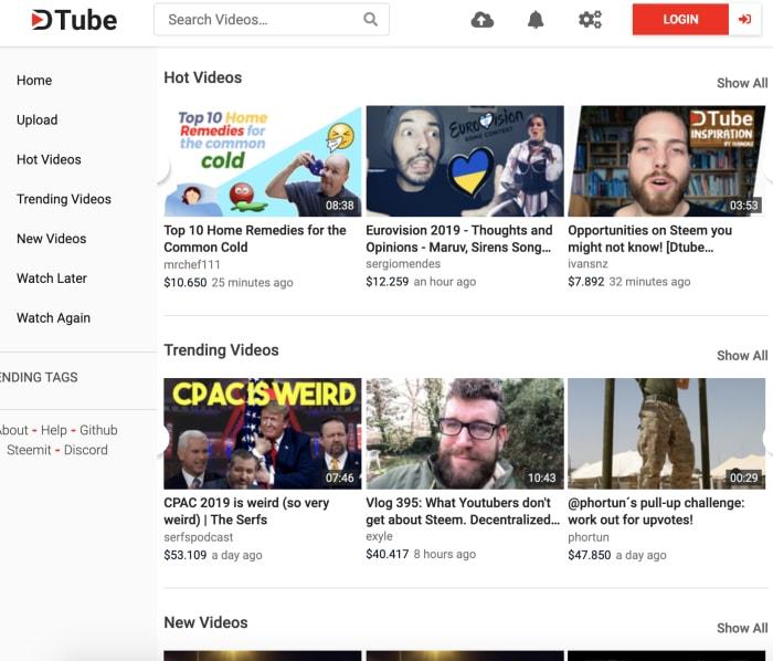 DTube blockchain YouTube