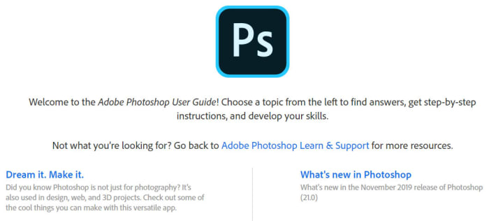 Adobe Photoshop guide