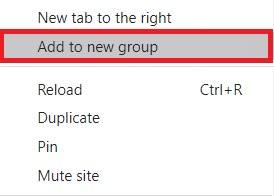 Create a tab group