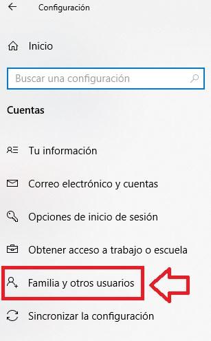 Cuentas de familia y otros usuarios