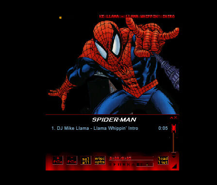 Spiderman skin