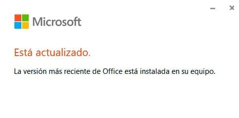 Office está actualizado