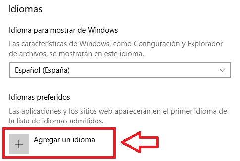 Cómo cambiar el idioma de Windows 10