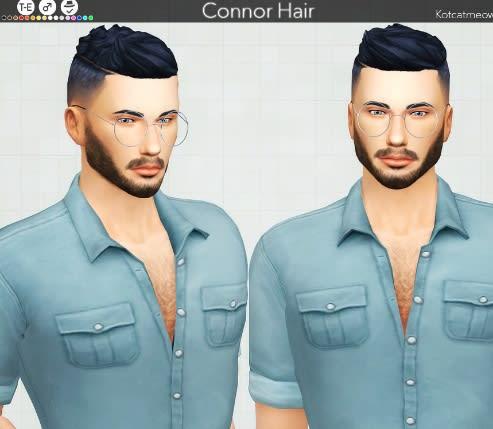 Connor Hair mod para Los Sims 4