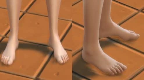 Los Sims 4 HD Feet mod