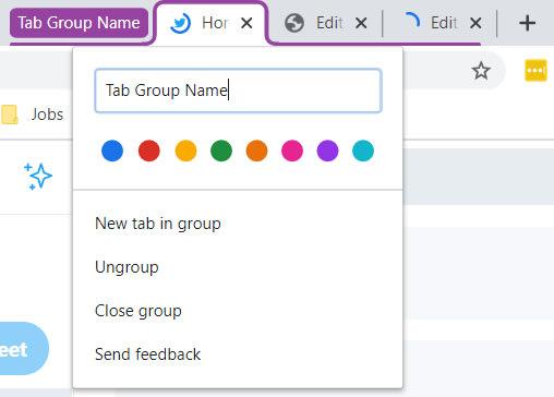 Group Tabs Flag on Chrome