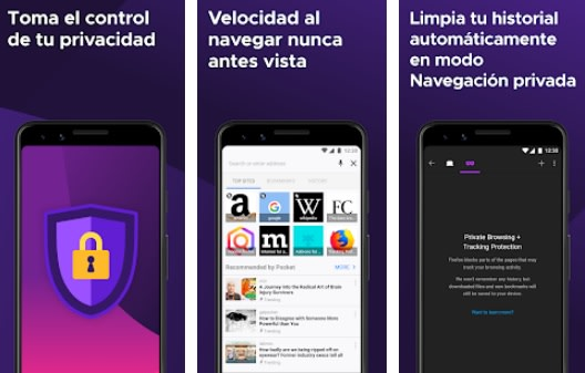 Interfaz de Firefox para Android