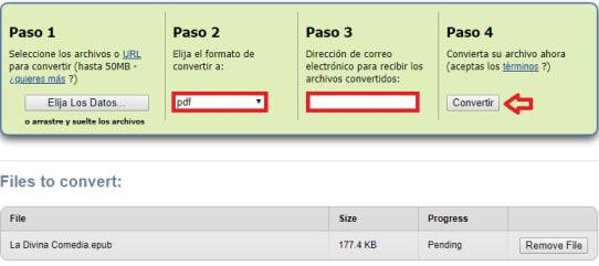 Cómo convertir un archivo EPUB a PDF