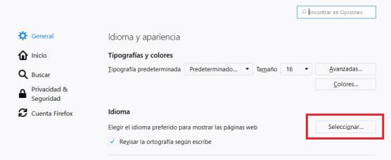 Cómo cambiar el idioma de Firefox