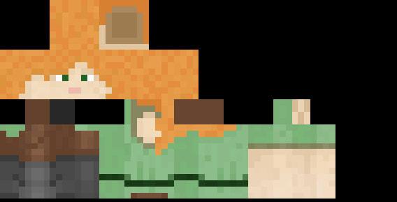Default Alex skin on Minecraft