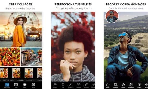 Interfaz de PicsArt
