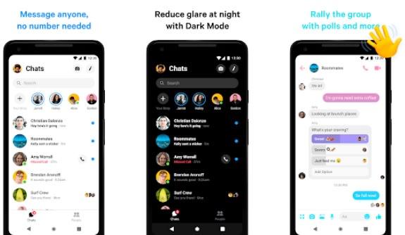 Interfaz de Messenger