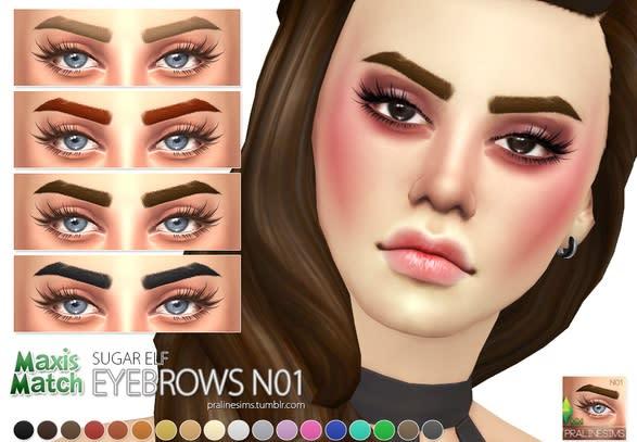 Los Sims 4 Maxis Match Eyebrows mod
