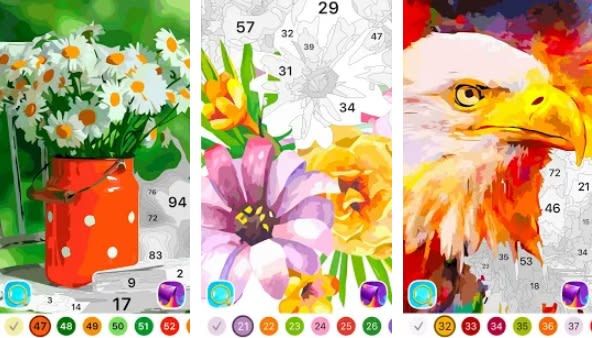 Libro de colorear para adultos: por números