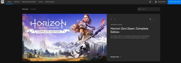 Página de la Epic Games Store
