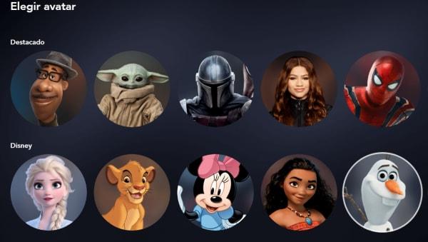 Perfiles de Disney Plus