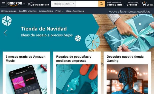 Página oficial de Amazon
