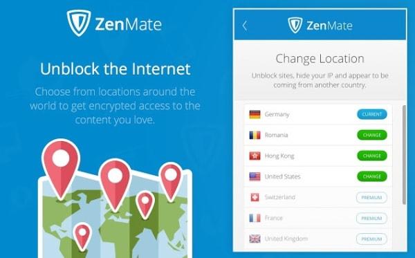Anuncio de ZenMate VPN