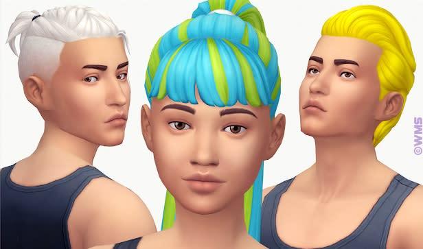 Los Sims 4 Hair Recolour mod