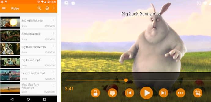 Interfaz de VLC para Android
