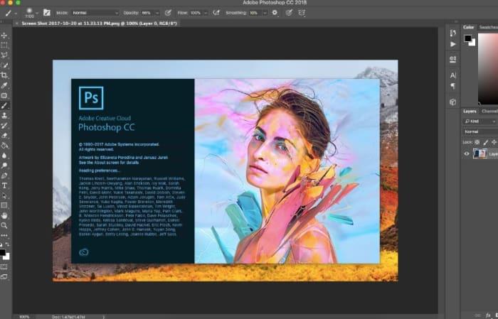 Interfaz de Adobe Photoshop CC