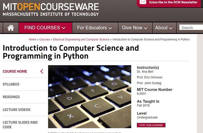 MIT Open Coursework