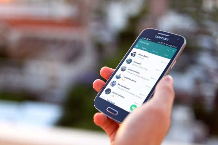 Interfaz de WhatsApp para Android