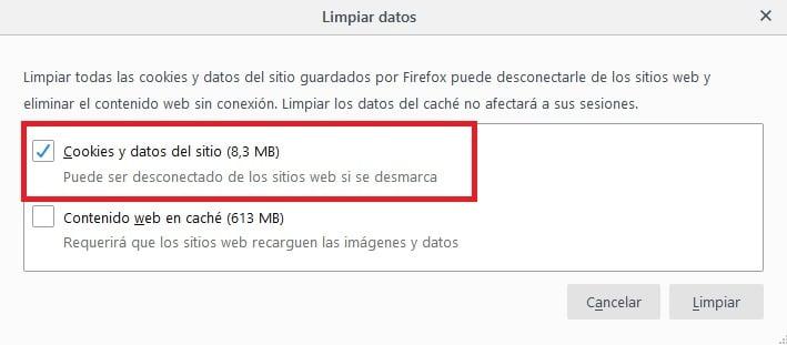Firefox: Cómo borrar sus cookies paso a paso