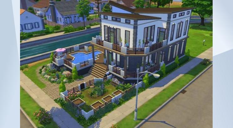 Casa Blue Moon para Los Sims 4