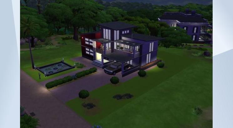Casa Modern Vogue para Los Sims 4