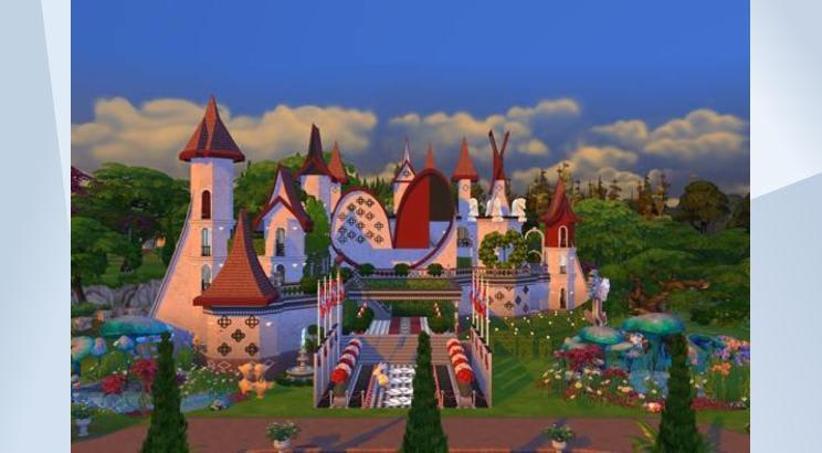 Castillo de la Reina de Corazones para Los Sims 4
